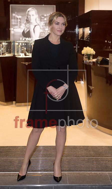 *BRAZIL ONLY* ATENÇÃO EDITOR, FOTO EMBARGADA PARA VEÍCULOS INTERNACIONAIS*  wenn23207884 Kate Winslet participa da inauguração da loja da Longines na Oxford Street em Londres, Inglaterra, nesta terça-feira (24). Foto: Wenn/FramePhoto