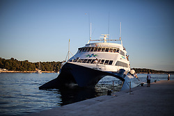 "THEMENBILD - URLAUB IN KROATIEN, das Touristenschiff ""Prince of Venice"" im Hafen, aufgenommen am 01.07.2014 in Porec, Kroatien // the tourist boat ""Prince of Venice"" at the port in Porec, Croatia on 2014/07/01. EXPA Pictures © 2014, PhotoCredit: EXPA/ JFK"