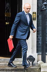 London, June 27th 2017. Communities and Local Government Secretary Sajid Javid leaves the weekly UK cabinet meeting at 10 Downing Street in London.
