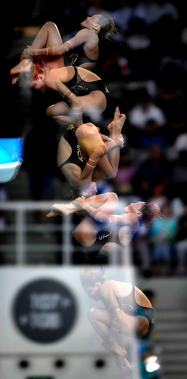 Melissa Wu of Australia competes in the Women's 10m Platform Semifinal held at the National Aquatics Center during Day 13 of the Beijing 2008 Olympic Games on August 21, 2008 in Beijing, China.. Photo by Lucas Schifres/Pictobank/Cameleon/ABACAPRESS.COM