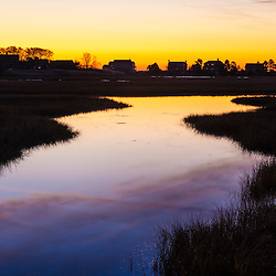 Tidal creek at dawn in Rye, New Hampshire.