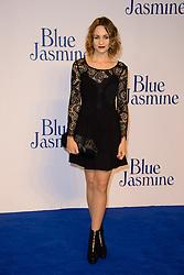 Blue Jasmine - UK film premiere. <br /> Tuppence Middleton arrives for the Blue Jasmine film premiere, Odeon, London, United Kingdom. Tuesday, 17th September 2013. Picture by Chris Joseph / i-Images