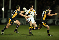 Photo: Rich Eaton.<br /> <br /> Worcester Rugby v London Wasps. Guinness Premiership. 26/01/2007. Tom Voyce of Wasps kicks ahead