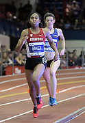 Feb 11, 2017; New York, NY, USA; Olivia Baker of Stanford places seventh in the women's 800m in 2:05.00 during the 110th Millrose Games at The Armory.