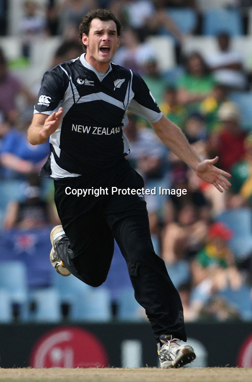 CENTURION, SOUTH AFRICA - 24 September 2009. Kyle Mills during the ICC Champions Trophy between South Africa vs New Zealand  held at Supersport Park in Centurion, South Africa. (PHOTO:Trevor Kolk/African Press Photo Agency/Sportzpics)