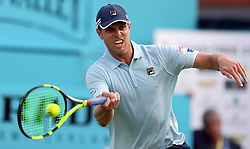 USA's Sam Querrey during day one of the Fever-Tree Championship at the Queens Club, London. PRESS ASSOCIATION Photo. Picture date: Monday June 18, 2018. See PA story TENNIS Queens. Photo credit should read: Steven Paston/PA Wire. RESTRICTIONS: Editorial use only, no commercial use without prior permission.