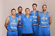 Milano, 24 luglio 2013<br /> Media Day Nazionale Italiana Pallacanestro<br /> Nella foto: Travis Diener, Marco Belinelli, Andrea Bargnani, Luigi Datome, Simone Pianigiani<br /> FOTO CIAMILLO