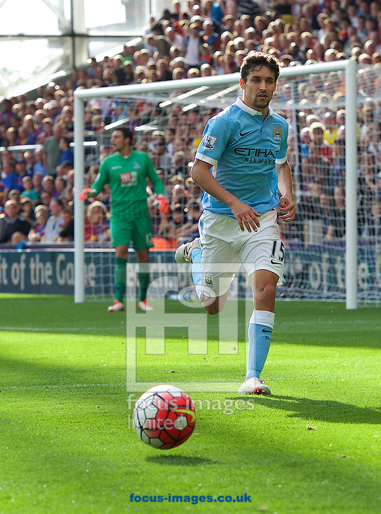 Jesus Navas of Manchester City during the Barclays Premier League match at Selhurst Park, London<br /> Picture by Alan Stanford/Focus Images Ltd +44 7915 056117<br /> 12/09/2015