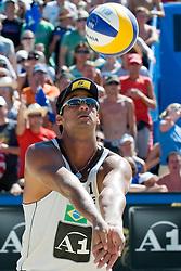 Ricardo Costa Santos of Brazil at A1 Beach Volleyball Grand Slam tournament of Swatch FIVB World Tour 2010, semifinal, on August 1, 2010 in Klagenfurt, Austria. (Photo by Matic Klansek Velej / Sportida)