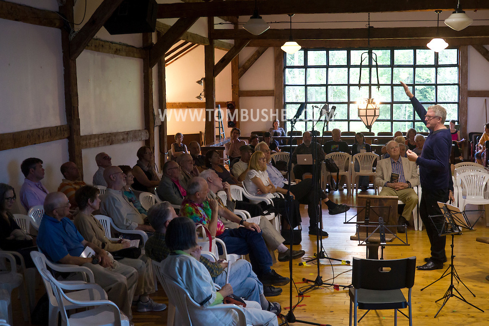 Jeffersonville, New York - World class musicians practice for a Weekend of Chamber Music concert at the Eddie Adams Barn on July 97, 2014. The event was part of the Weekend of Chamber Music's Summer Festival.