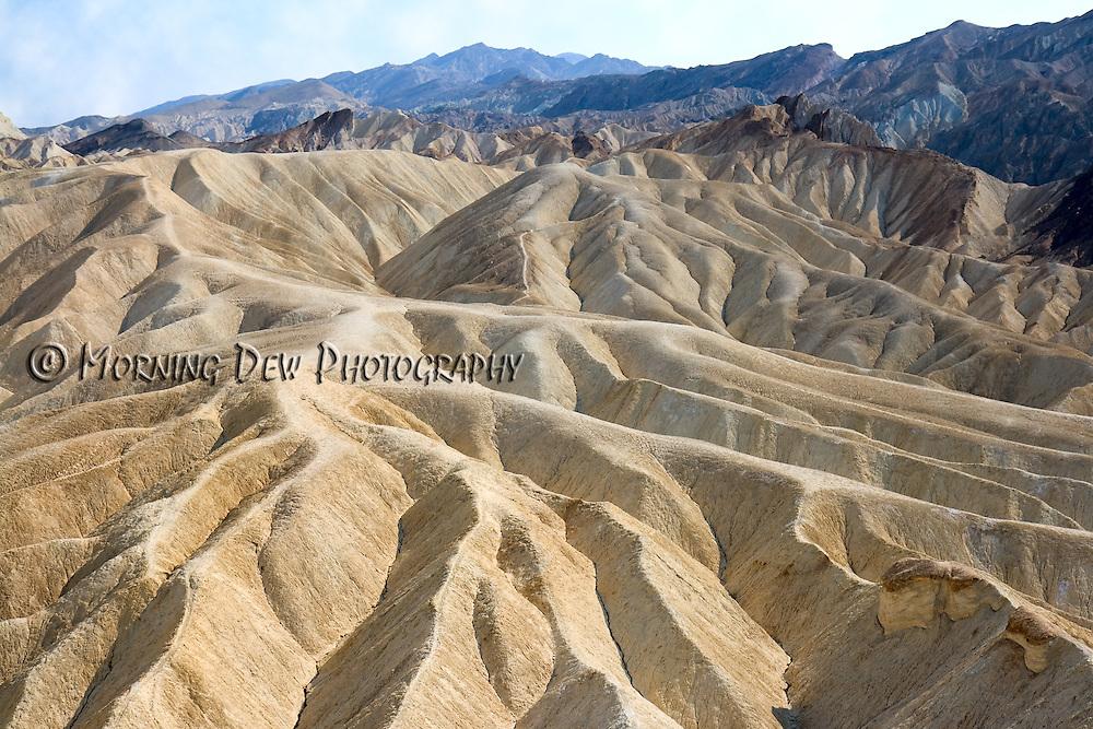Death Valley's badlands viewed from Zabriskie Point.