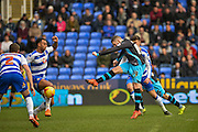 Sheffield Wednesday Forward Gary Hooper opens the scoring during the Sky Bet Championship match between Reading and Sheffield Wednesday at the Madejski Stadium, Reading, England on 23 January 2016. Photo by Adam Rivers.