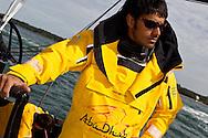 ENGLAND, Cowes. 10th August 2011. Training with Abu Dhabi Ocean Racing. Butti Al Muhairi.