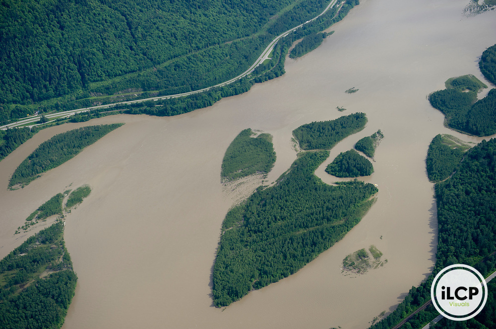 Islands in the Fraser River.