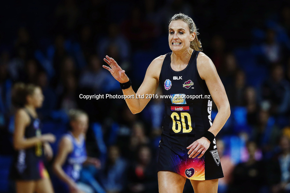Leana de Bruin of the Magic reacts. 2016 ANZ Championship, Northern Mystics v Waikato BOP Magic, The Trusts Arena, Auckland, New Zealand. 6 June 2016. Photo: Anthony Au-Yeung / www.photosport.nz