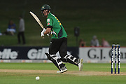 Central Stags Blair Tickner bats during the Burger King Super Smash T20 cricket match between the Central Stags and the Northern Knights, McLean Park, Napier, Friday, January 25, 2019. Copyright photo: Kerry Marshall / www.photosport.nz