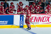 REGINA, SK - MAY 20: Jeffrey Truchon-Viel #25 of Acadie-Bathurst Titan celebrates a goal against the Regina Pats at the Brandt Centre on May 20, 2018 in Regina, Canada. (Photo by Marissa Baecker/CHL Images)