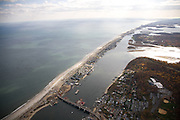 A narrow peninsula parallels the Jersey shore line from Sea Bright to the Monmouth Beach.