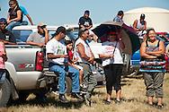 Fort Belknap Indian Reservation, Montana, Milk River Memorial Horse Races, spectators.