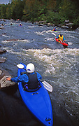 Kayaking on the Lehigh River during water release, PA