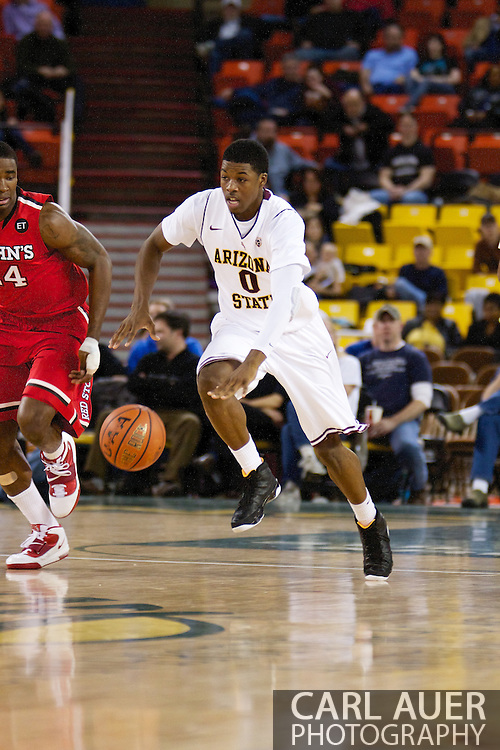 November 27th, 2010:  Anchorage, Alaska - Arizona State's Carrick Felix brings the ball up court in the Sun Devil's 58-67 loss to St. Johns in the championship game of the Great Alaska Shootout.