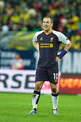 MOSCOW, RUSSIA - Thursday, November 8, 2012: Liverpool's Joe Cole in action against FC Anji Makhachkala during the UEFA Europa League Group A match at the Lokomotiv Stadium. (Pic by David Rawcliffe/Propaganda)
