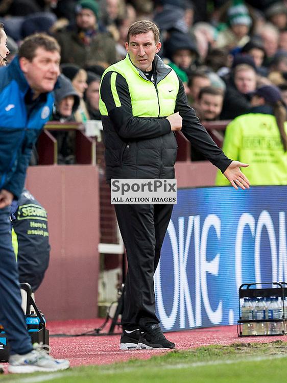Hibernian v St Johnstone Scottish League Cup semi-final 2015-2016  <br /> <br /> Alan Stubbs (Hibernian Manager) during the Hibernian v St Johnstone, Scottish League Cup semi-final at Tynecastle Stadium on Saturday 30 January 2016.<br /> <br /> Picture: Alan Rennie