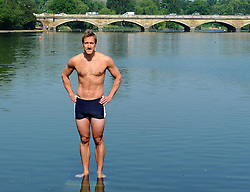 Ben Fogle launches his plans to swim the Atlantic next year at the Serpintine in London, Wednesday, 23rd May   Photo by: Chris Joseph / i-Images