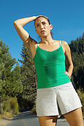 Jogger Catching Her Breath