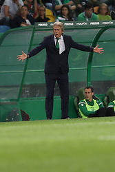 April 18, 2018 - Lisbon, Portugal - Sporting's head coach Jorge Jesus from Portugal gestures during the Portugal Cup semifinal second leg football match Sporting CP vs FC Porto at the Alvalade stadium in Lisbon on April 18, 2018. (Credit Image: © Pedro Fiuza via ZUMA Wire)