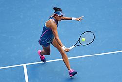 BEIJING, Oct. 3, 2018  Zhang Shuai of China hits a return during the women's singles second round match against Timea Babos of Hungary at China Open tennis tournament in Beijing, China, Oct. 3, 2018. Zhang Shuai won 2-0. (Credit Image: © Ju Huanzong/Xinhua via ZUMA Wire)