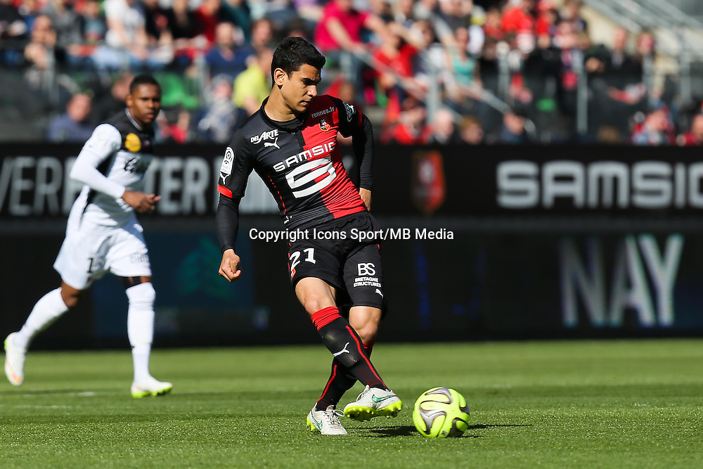 Benjamin ANDRE - 12.04.2015 - Rennes / Guingamp - 32eme journee de Ligue 1 <br /> Photo : Vincent Michel / Icon Sport