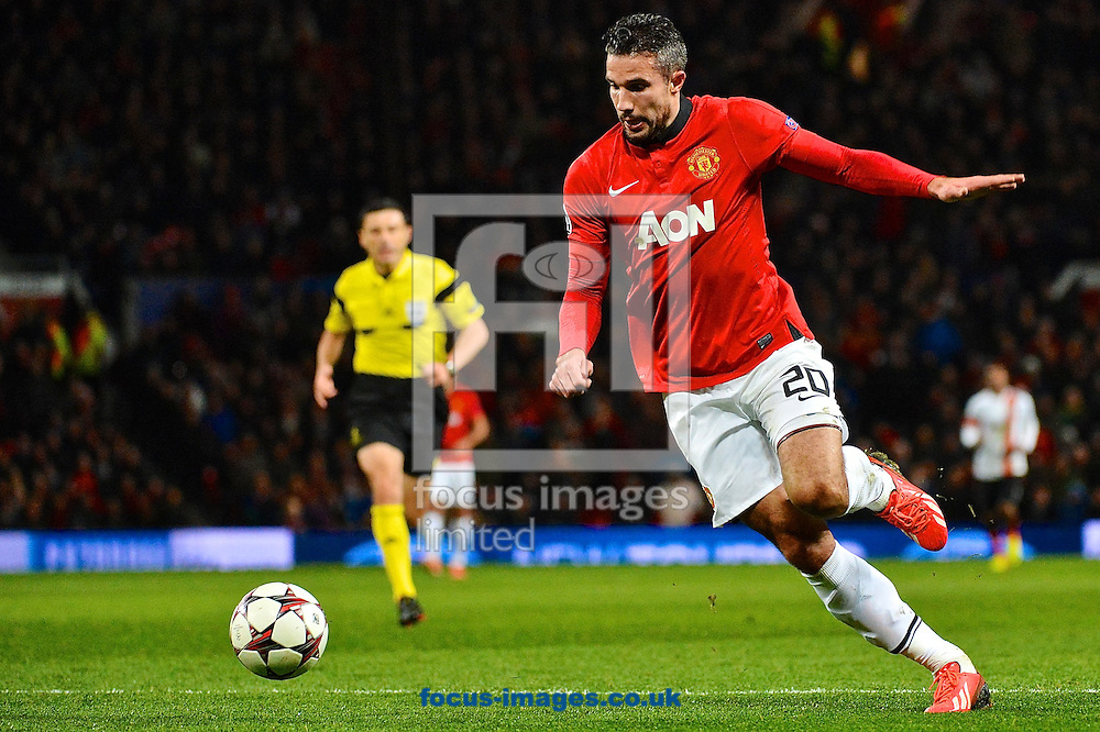 Picture by Ian Wadkins/Focus Images Ltd +44 7877 568959<br /> 10/12/2013<br /> Robin van Persie of Manchester United during the UEFA Champions League match at Old Trafford, Manchester.