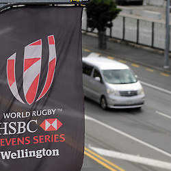 Signage, day two at the 2017 HSBC World Sevens Series Wellington, Westpac Stadium in Wellington, New Zealand on Sunday, 29 January 2017. Photo: Kerry Marshall / lintottphoto.co.nz