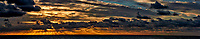Sunrise Panorama at Sea from the Aft Deck of the MV World Odyssey While Crossing the Pacific Ocean. Composite of 22 images taken with a Nikon 1 V3 camera and 70-300mm VR lens (ISO 200, 70 mm, f/8, 1/640sec). Raw images processed with Capture One Pro and AutoPano Giga Pro.