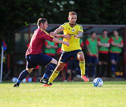 Bristol City's Martin Woods is challenged to the ball - Photo mandatory by-line: Dougie Allward/JMP - Tel: Mobile: 07966 386802 03/07/2013 - SPORT - FOOTBALL - Bristol -  Ashton and Backwell United V Bristol City - Pre Season Friendly