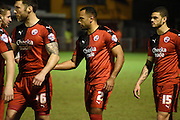 Lanre Oyebanjo returns for his first start of the season during the Sky Bet League 2 match between Crawley Town and Newport County at the Checkatrade.com Stadium, Crawley, England on 1 March 2016. Photo by Michael Hulf.