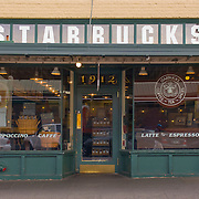 Starbucks Coffe original store location, Pike Place Market, Seattle, Washington