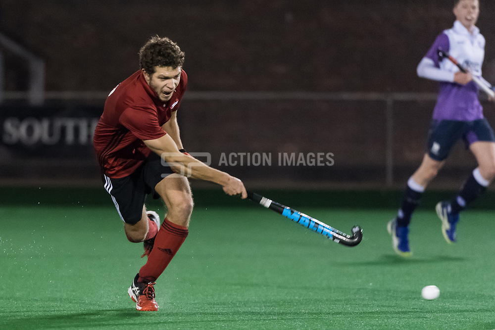 Southgate v Old Loughtonians - Men's Hockey League East Conference, Trent Park, London, UK on 15 March 2018. Photo: Simon Parker