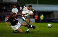 Photo: Richard Lane.<br />Northampton Town v Bristol City. Coca Cola League 1. 29/08/2006. <br />City's Bradley Orr crosses as Andy Holt challenges.
