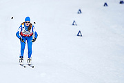 Schladming, Austria - 2017 March 20: Grete Soolo from SO Estonia competes in Cross Country Race while Special Olympics World Winter Games Austria 2017 in Ramsau am Dachstein on March 20, 2017 in Schladming, Austria.<br /> <br /> Mandatory credit:<br /> Photo by &copy; Adam Nurkiewicz / Mediasport<br /> <br /> Adam Nurkiewicz declares that he has no rights to the image of people at the photographs of his authorship.<br /> <br /> Picture also available in RAW (NEF) or TIFF format on special request.<br /> <br /> Any editorial, commercial or promotional use requires written permission from the author of image.<br /> <br /> Image can be used in the press when the method of use and the signature does not hurt people on the picture.