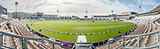 Panoramic image of The Ageas bowl as seen from the west side of the ground ahead of the the second day of the 4th SpecSavers International Test Match 2018 match between England and India at the Ageas Bowl, Southampton, United Kingdom on 31 August 2018.