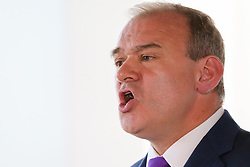 © Licensed to London News Pictures. 30/05/2019. London, UK. Ed Davey, MP for the Kingston and Surbiton and former Secretary of State for Energy and Climate Change speaking in South Bank as he launches his leadership campaign to become the leader of the Liberal Democrat party. The current leader, Vince Cable will step down as Liberal Democrat leader on 23 July 2019. Photo credit: Dinendra Haria/LNP