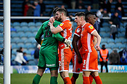 Shrewsbury players celebrate the win after the EFL Sky Bet League 1 match between Peterborough United and Shrewsbury Town at London Road, Peterborough, England on 23 February 2019.
