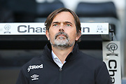 Derby County Manager Phillip Cocu during the EFL Sky Bet Championship match between Derby County and Millwall at the Pride Park, Derby, England on 14 December 2019.