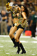 NEW ORLEANS, LA - NOVEMBER 11:  Cheerleader of the New Orleans Saints performs during a game against the Atlanta Falcons at Mercedes-Benz Superdome on November 11, 2012 in New Orleans, Louisiana.  The Saints defeated the Falcons 31-27.  (Photo by Wesley Hitt/Getty Images) *** Local Caption ***