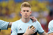 Belgium forward Kevin De Bruyne (7) during the Euro 2016 match between Sweden and Belgium at Stade de Nice, Nice, France on 22 June 2016. Photo by Andy Walter.