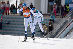 KLEMETTI Rudolf FIN B3 Guide: KALLUNKI Jaakko competing in the ParaSkiDeFond, Para Nordic Skiing, 20km at  the PyeongChang2018 Winter Paralympic Games, South Korea.