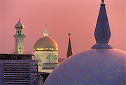Sunset after a rainstorm - the Omar Ali Saifuddien Mosque.(left).Bandar Seri Begawan, Brunei..?Jeremy Horner