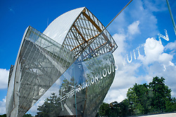 May 20, 2017 - Paris, France - The Louis Vuitton Foundation is pictured in Paris, on May 20, 2017. The building of the Louis Vuitton Foundation. It is an art museum and cultural center sponsored, designed by the architect Frank Gehry, and is adjacent to the Jardin d'Acclimatation in the Bois de Boulogne of the 16th arrondissement of Paris. (Credit Image: © Alberto Pezzali/NurPhoto via ZUMA Press)